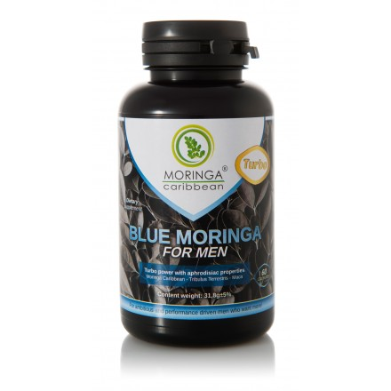 Moringa Caribbean 60 kapsúl BLUE MORINGA FOR MEN TURBO
